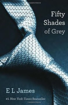 Fifty Shades of Grey, the first in the series trilogy.