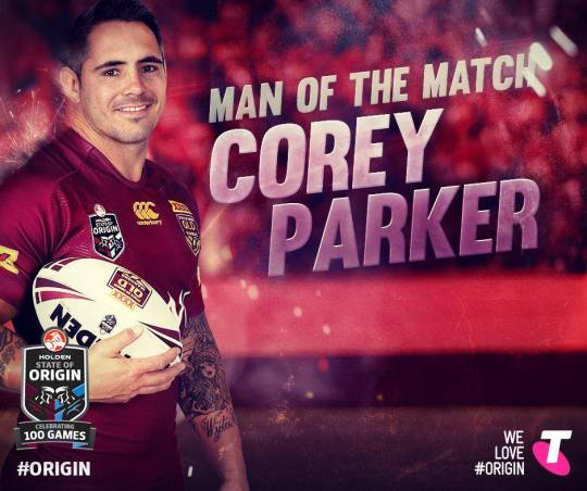 Because if anyone was going to be the thumbnail of this piece, it was Cozza. (SOURCE: Queensland Maroons Facebook page)